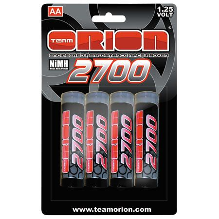 Team Orion 2700mAh 1.25V NiMH AA Batteries - 4-pack