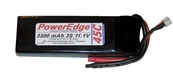 PowerEdge 3300mAh 11.1V 3S Triple Cell 45C LiPoly Pack