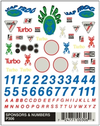 Dry Transfer Decals, Sponsors & Numbers by Pinecar
