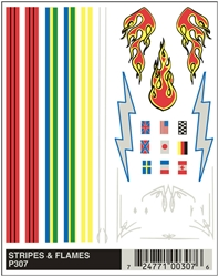 Dry Transfer Decals, Stripes & Flames by Pinecar