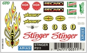 Pinecar P311 Dry Transfer,Stinger