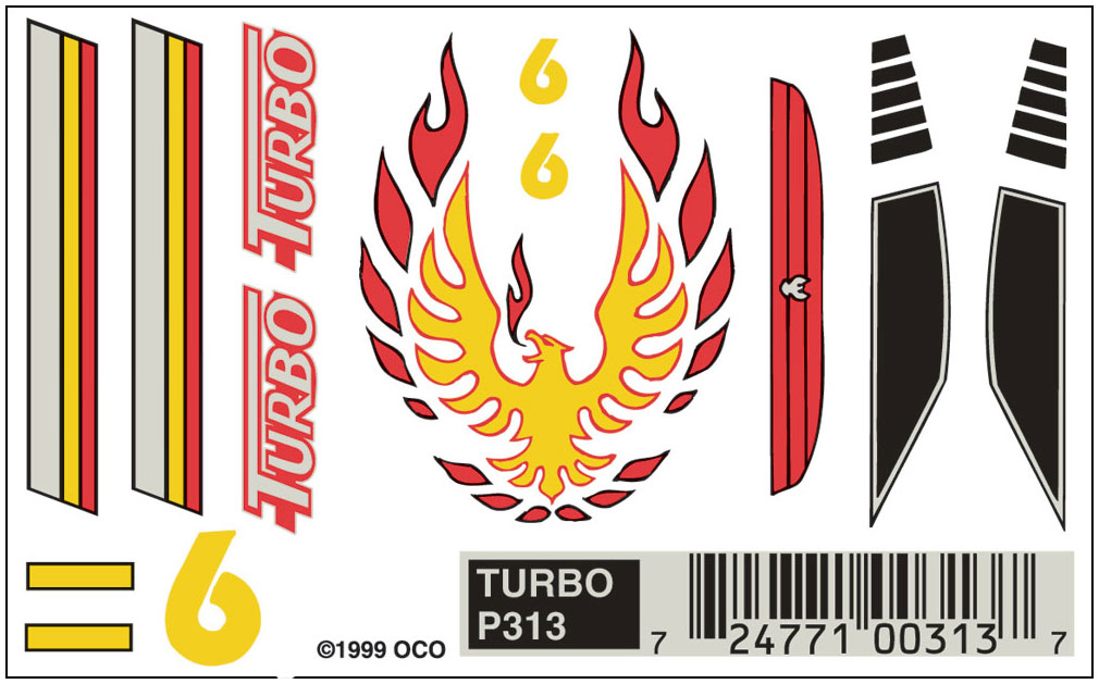 Pinecar P313 Dry Transfer,Turbo