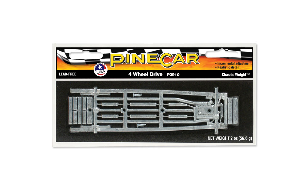 Pinecar P3910 FR Wheel Chassis Weight - PIN3910