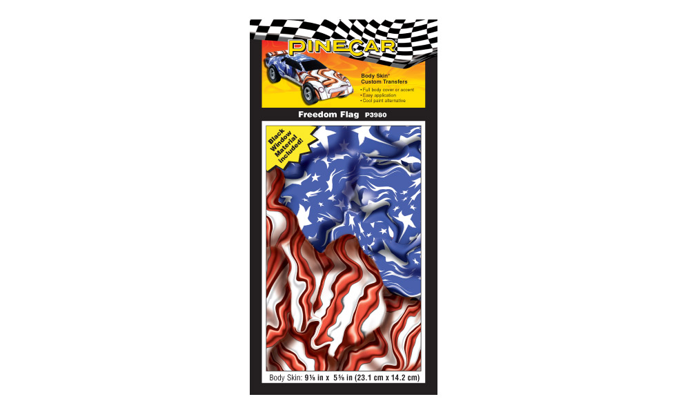 Pinecar P3980 Freedom Flag Custom Body Skin
