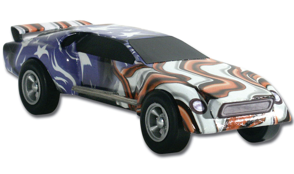 Pinecar P3980 Freedom Flag Custom Body Skin - PIN3980