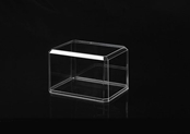Mini football helmet 1:43 scale display case - double mirrors & wood base