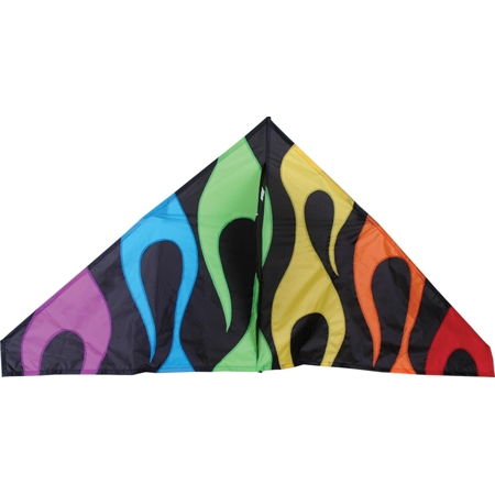 56in. Delta, Rainbow Flames  by Premier Kites & Designs