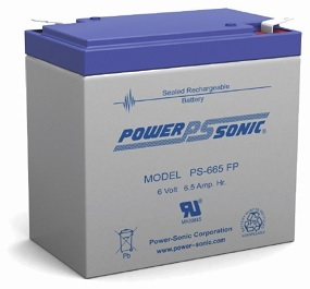 Powersonic PS-665 SLA 6V 6.5Ah Battery