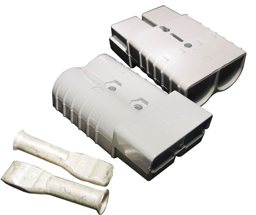 350 Amp PowerPole SB Connector Grey - set of 2 with 4 contacts