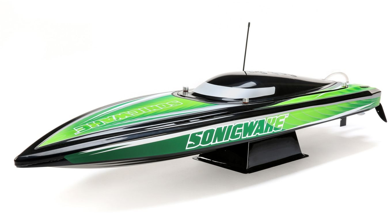 36 inch Sonicwake,Blk, Self-Right Deep-V Brushless RTR