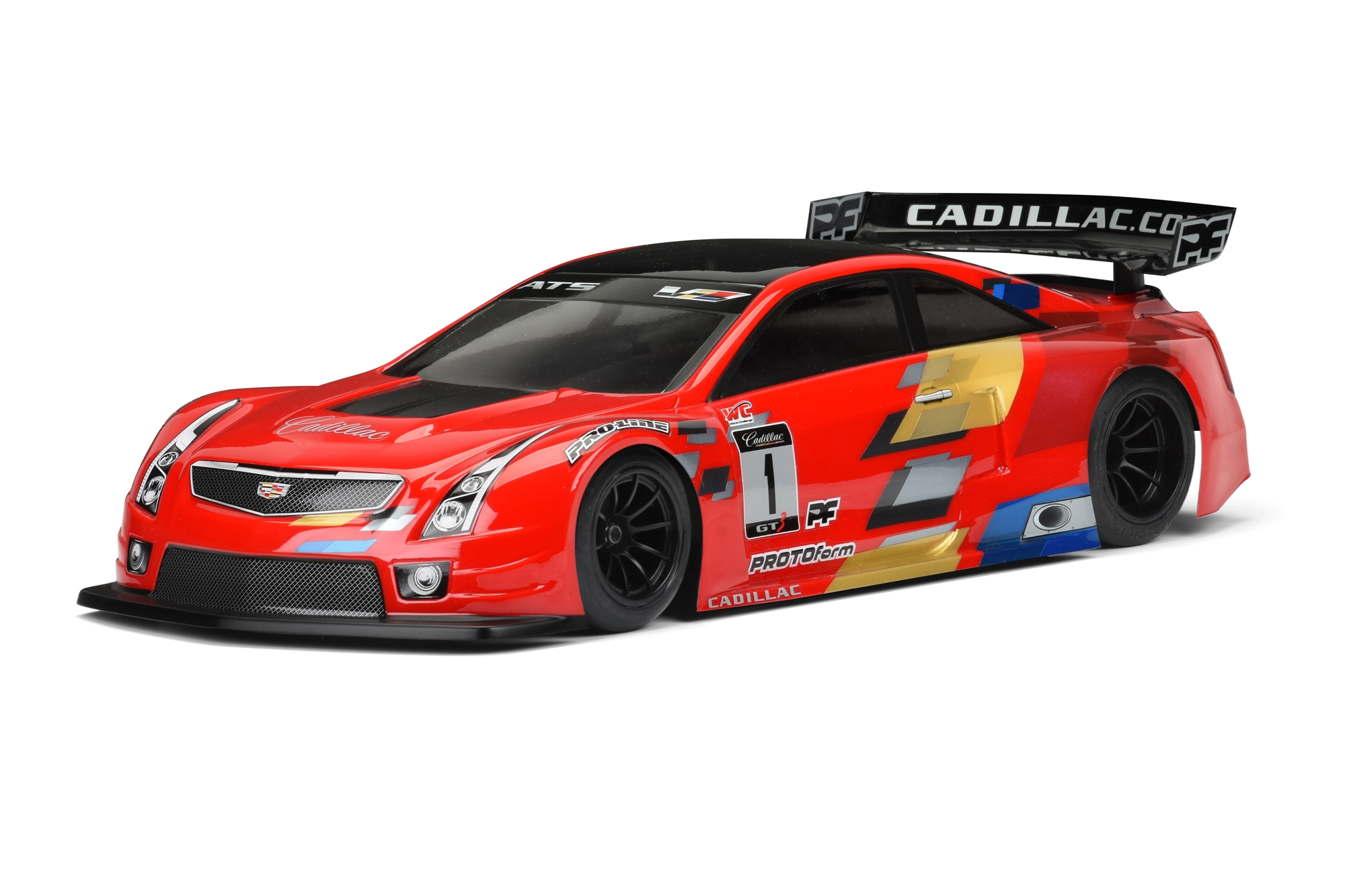 Cadillac ATS-V.R Clear Body for 200mm Pan Car and TC For the new World GT-R rubber tire pan car class or 200mm Touring Cars.
