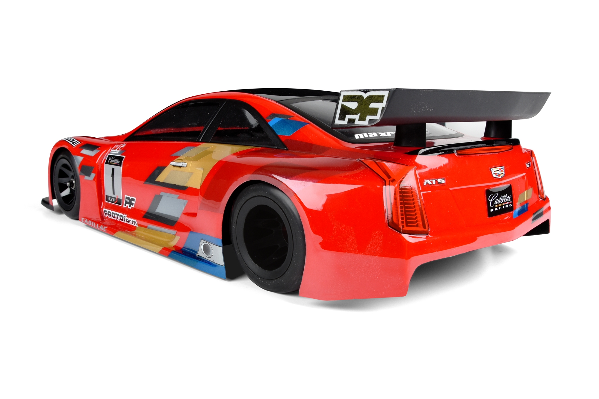 Cadillac ATS-V.R Clear Body for 200mm Pan Car and TC For the new World GT-R rubber tire pan car class or 200mm Touring Cars. - PRO154830