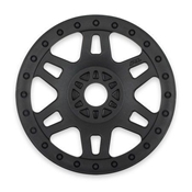 1/8 Fr, R Split Six V2 Black Wheels (4): Buggy