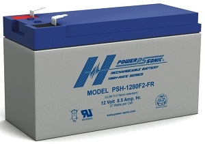Powersonic PSH-1280 F2 12V 8.5Ah High Discharge SLA Battery