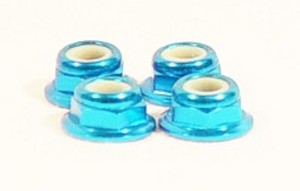 4mm Alum Flanged Lock Nut Thin