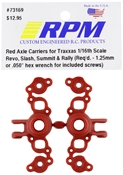Red Axle Carriers for Traxxas 1/16th Scale R4EVO/SLH/SUMMIT/RALLY