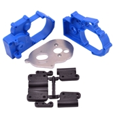 Gearbox Housing & R Mounts,Blue:TRA 2WD Vehicles