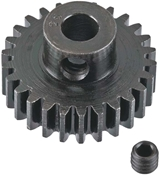 Extra Hard 26 Tooth Blackened Steel 32p Pinion 5mm