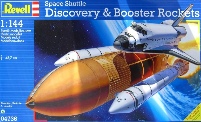 Revell Germany 1/144 Space Shuttle Discovery w/Booster Rocket - RVLS4736