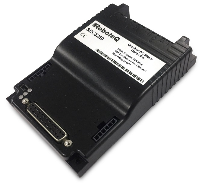 RoboteQ SDC3260 Triple Channel Brushed Motor Controller 60V, 20A