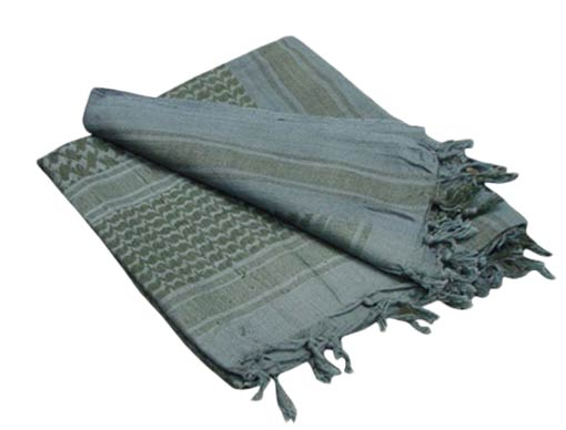 Matrix Woven Coalition Desert Shemagh / Scarves - Foliage Green/Black