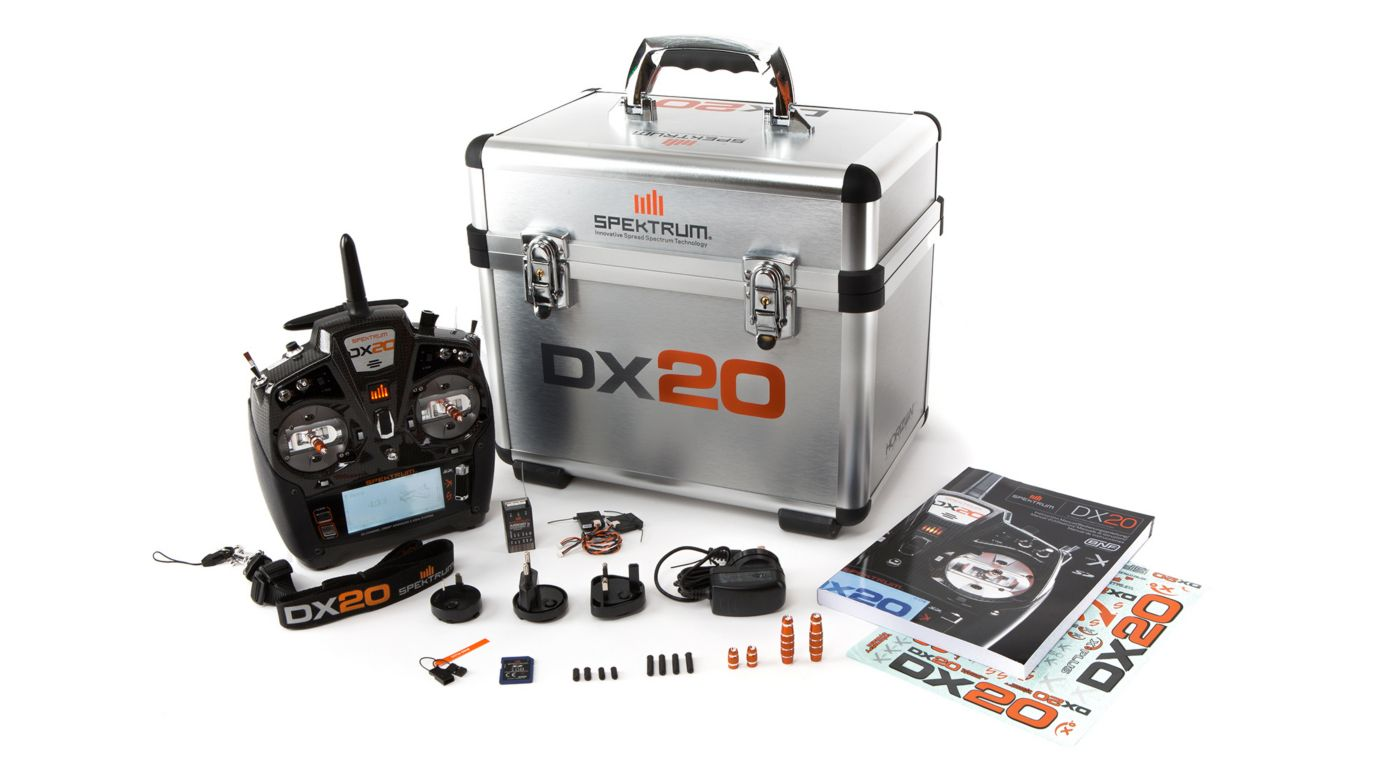 DX20 20 CH System w/ AR9020 Mode 2 Selectable 1-4 - SPM20000