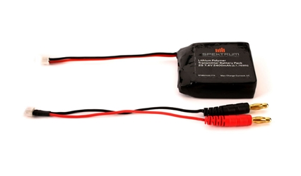 2400mAh LiPo Tx Battery: DX4S