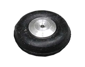1/2 Inch Diameter Aluminum/Rubber Wheel-Rib Pattern