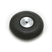1 Inch Diameter Aluminum/Rubber Wheel-Rib Pattern