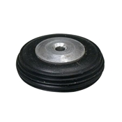 1 1/4 Inch Diameter Aluminum/Rubber Wheel-Rib Pattern