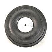 1 1/2 Inch Diameter Aluminum/Rubber Wheel-Rib Pattern