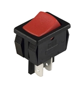 Red Rocker Off-On SPST Switch