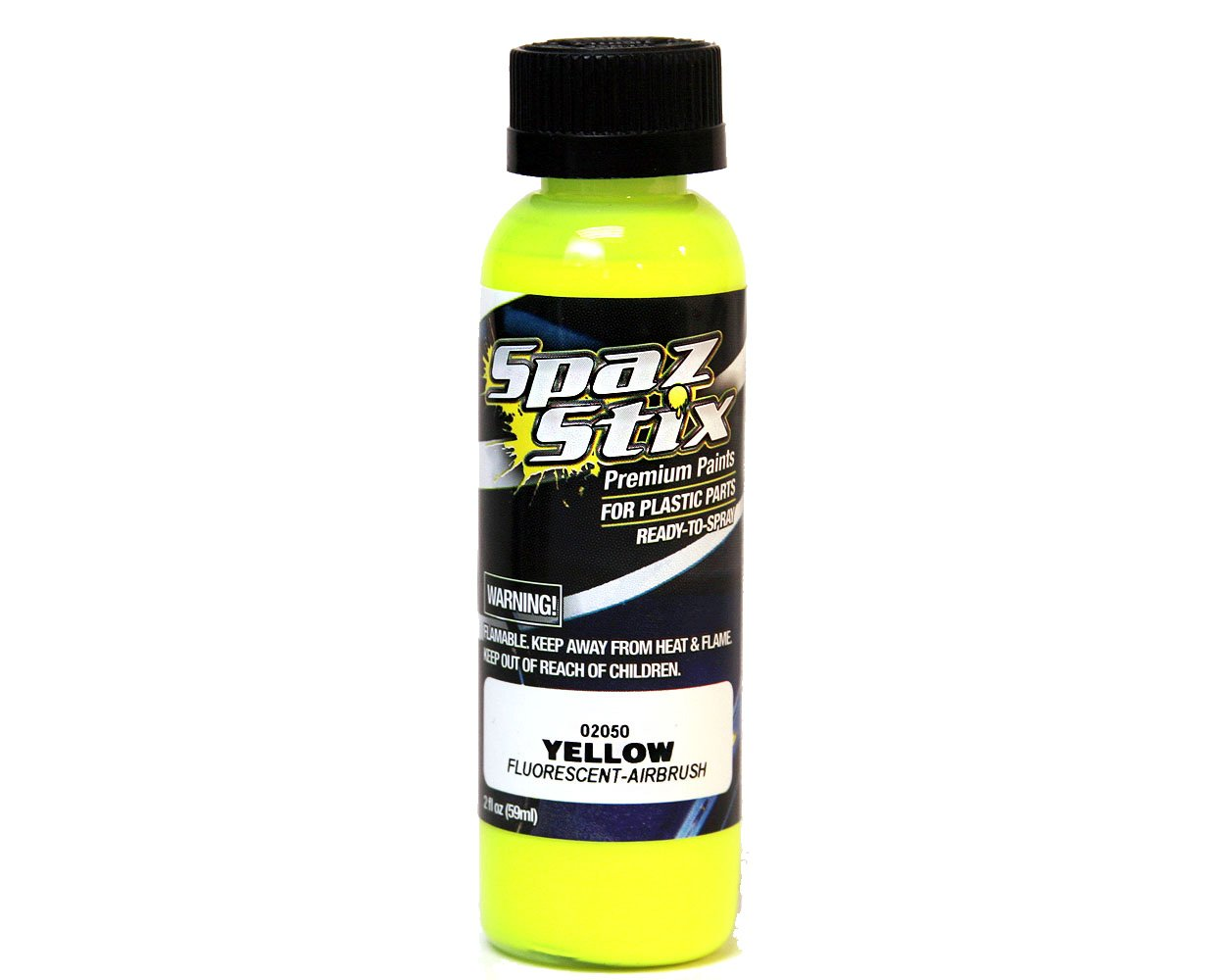 SpazStix Yellow Fluorescent Airbrush