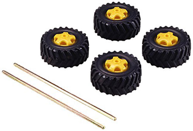 Off Road 36mm Tire Set of 4- Tamiya 70101