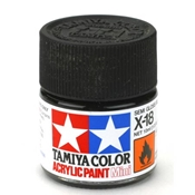 Tamiya Acrylic X-18 Semi Gloss Black