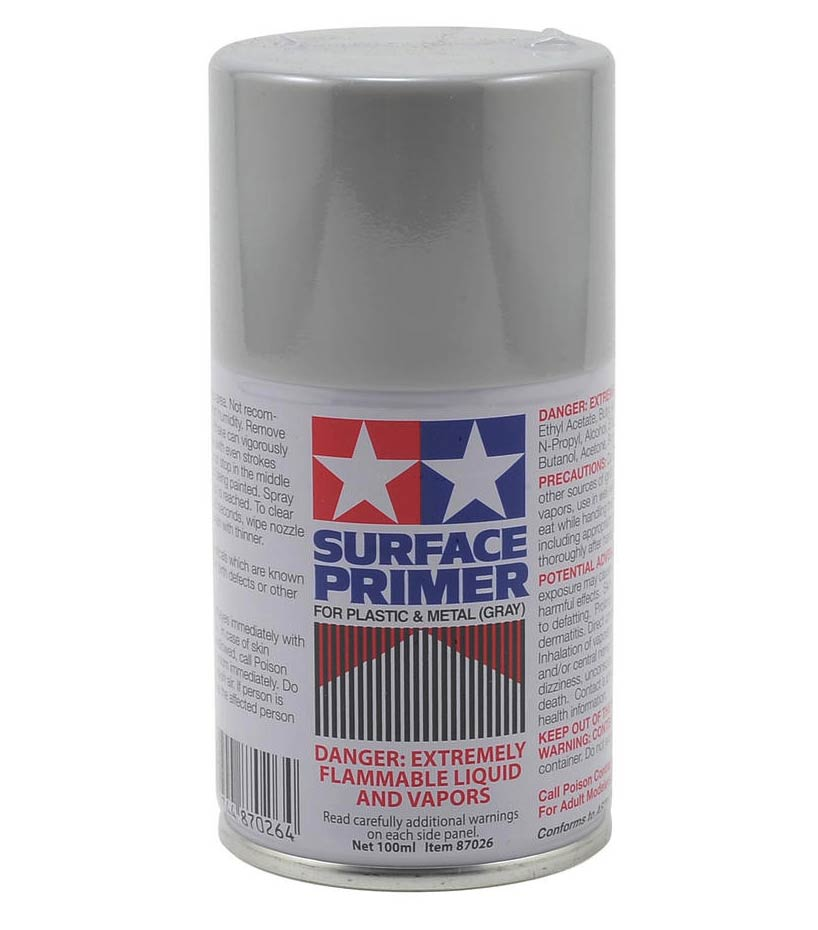 Tamiya Spray Surface Primer/Plastic Metal 3 oz