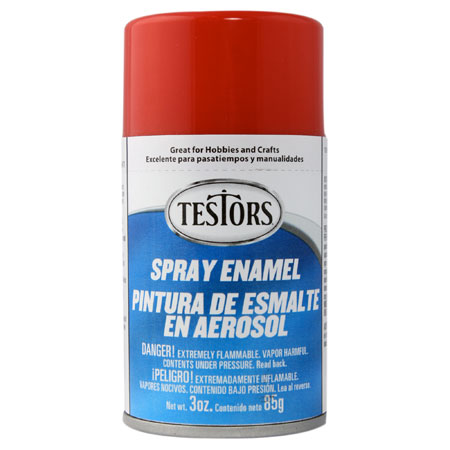 Testors 1203 Gloss Red Spray Enamel