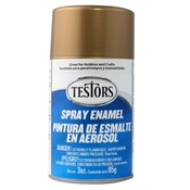 Testors 1244 Gold Metallic Spray Enamel 3oz