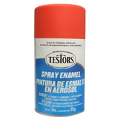 Testors 1250 Flat Red Spray Enamel 3oz