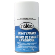 Testors 1258 Flat White Spray Enamel 3oz