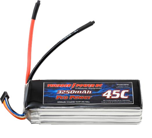 Thunder Power 3250mAh Five Cell 5S 18.5V LiPoly Pack - G4 Pro Power 45C Series