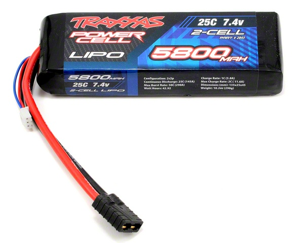 Traxxas Power Cell 5800mAh Double Cell 2S 7.4V 25C LiPo Pack