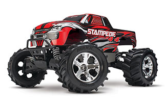 Stampede 4WD Monster Truck RTR, W/ 2.4ghz Radio, 3000mah Battery & 4A Peak DC Charger