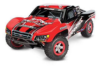 SLASH 1/16 4WD S.C. TRUCK, RTR. W/ TQ 2.4GHZ RADIO, 550 MOTOR, 1200mAh iD BATTERY & 4 AMP DC CHARGER