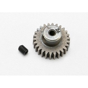 48 Pitch Pinion Gear, 26T with Setscrew: 1/16