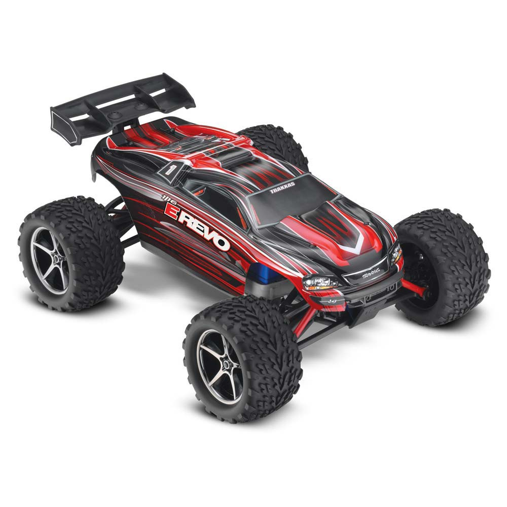 E-Revo 1/16 4wd Monster Truck, RTR, W/ 2.4ghz Radio, 550 Motor, 1200mah Id Battery & 4amp Charger