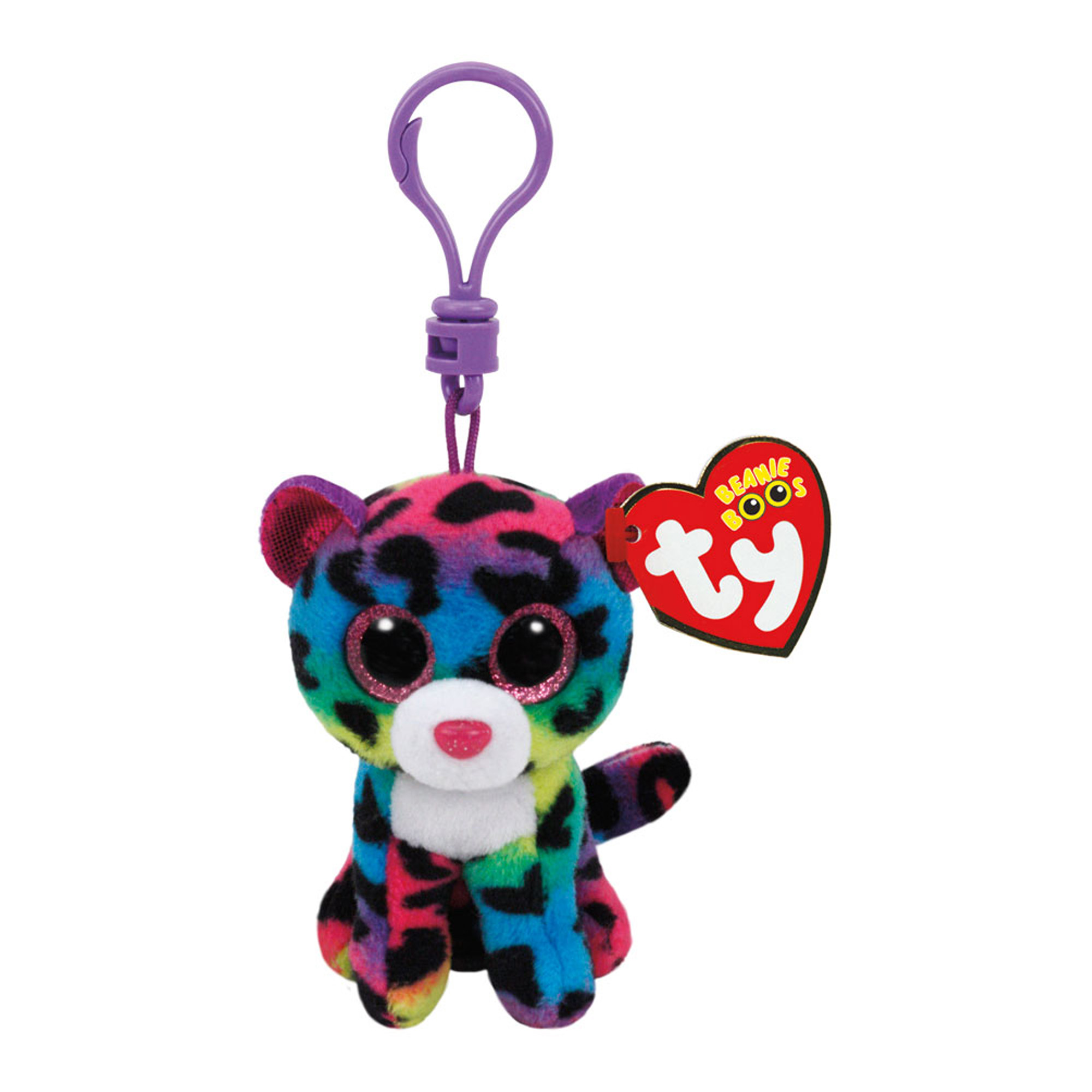 TY Beanie Boos - Dotty the Multicolor Leopard (Clip)