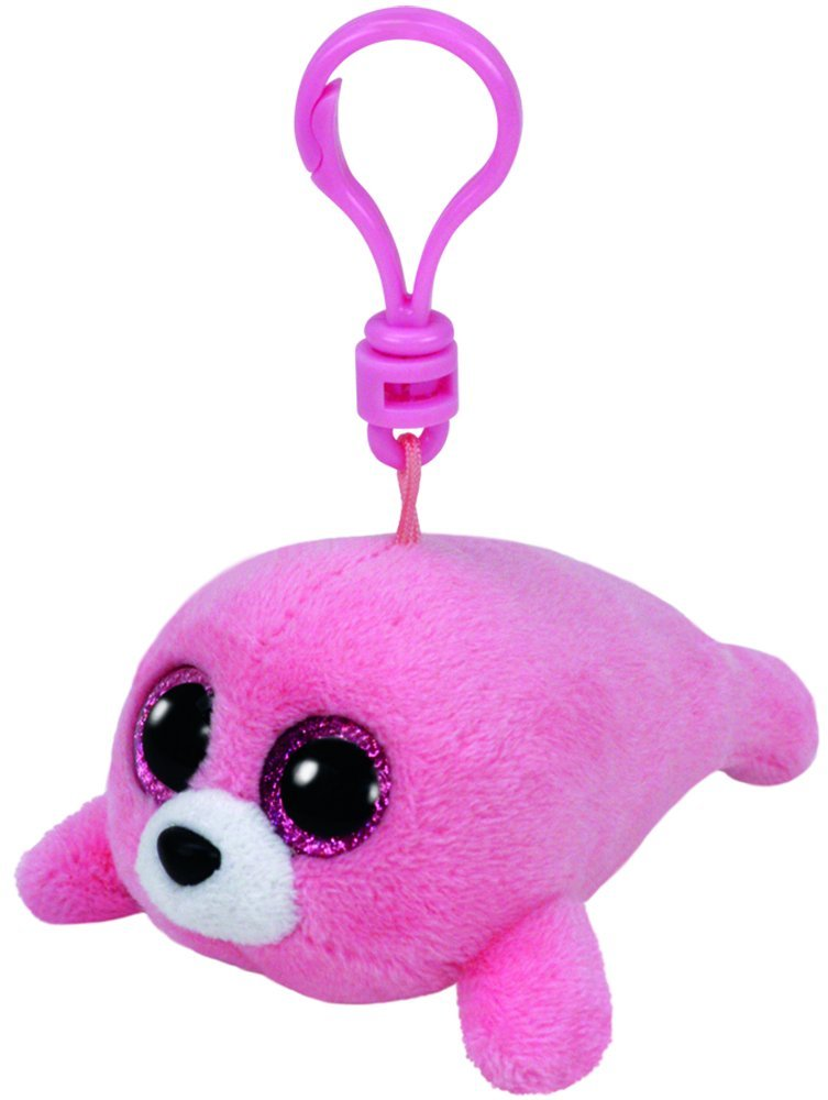 Beanie Clip Pierre the pink seal