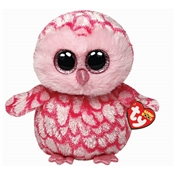 Ty Beanie Boos Pinky - Pink Owl
