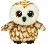 Swoops Beanie Boo (White and Caramel Owl)